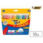 Bic 18 un. Marcadores Feltro Kids - 130Z30483