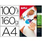 APLI 100 un. Fls Papel Fotográfico A4 Laser Glossy - 11817