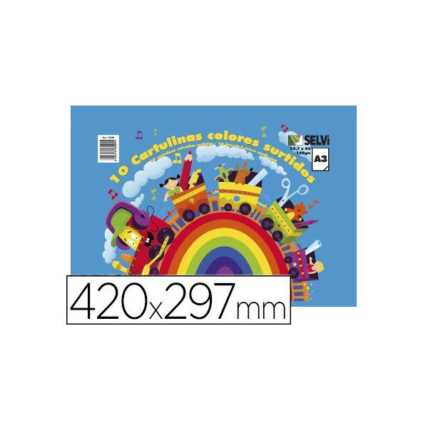 Liderpapel Cartolinas A3 em Blocos de Cores Sortidas - 51867