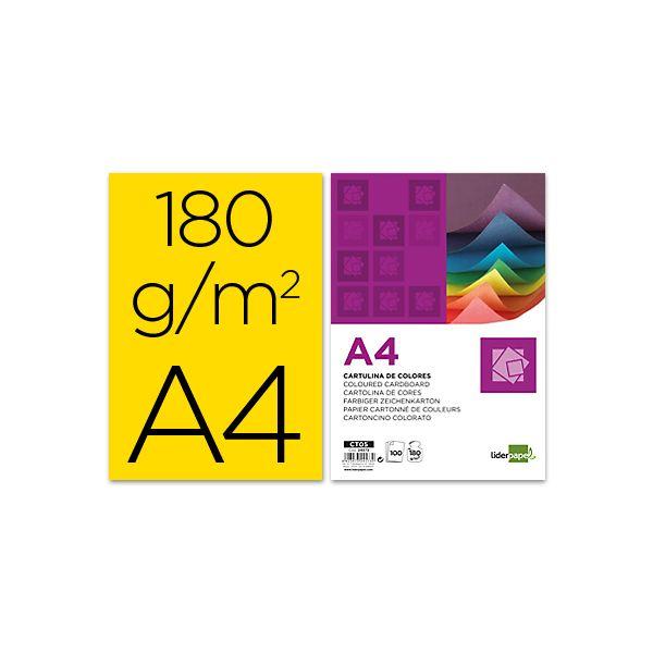 Liderpapel Cartolinas A4 -embalagens de uma Só Cor - 24573
