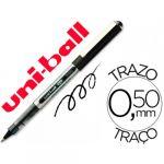 12 un. Esferográficas Rollerball UB-150 Eye Fine 0.5mm Black