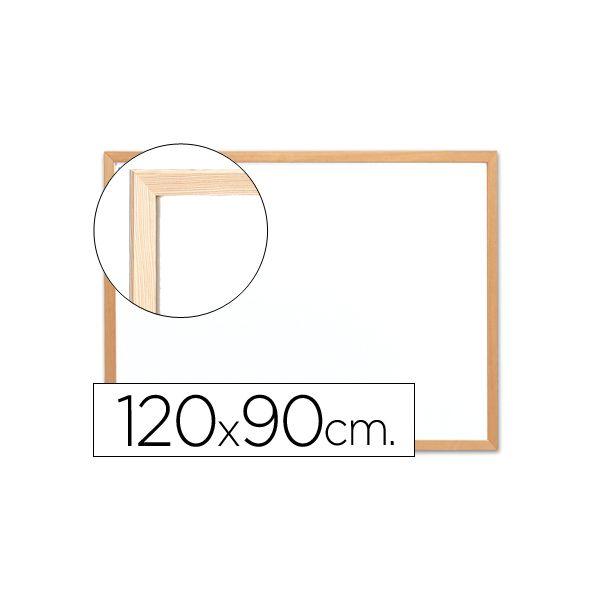 Q-Connect Quadro Branco Melamina 120x90cm Moldura Madeira - KF03572