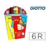 Giotto Caixa Marcadores Bebe Super 6 Cores - 460500