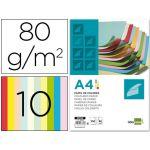 Liderpapel 100 un. Fls Papel DIN A4 80g 10 Cores - PC52