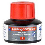 Edding Tinta Recarga Marcador Quadro BTK 25 T25 25ml Red