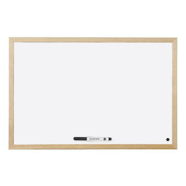 Bi-Office Quadro Branco Budget Magnético c/ Moldura em Carvalho 400x300mm - MM01001231