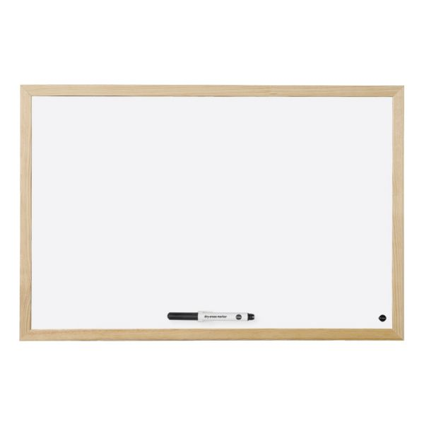 Bi-Office Quadro Branco Budget Magnético c/ Moldura em Pinho 800x600mm - MM06001010