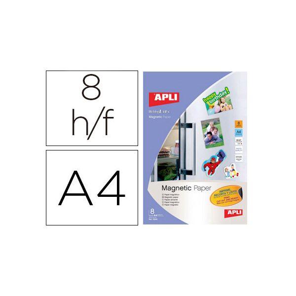 Apli 8 un. Fls Papel Magnético DIN A4 Inkjet - 10245