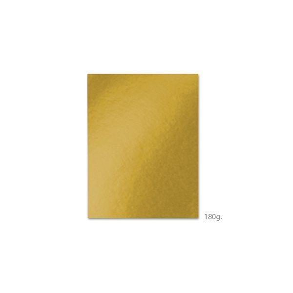 100 un. Fls Cartolina A4 180g Amarelo Dourado - 172Z31388