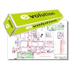 Evolution 2 un. Rolos Papel Plotter 80g 420mmx50m - 1821172
