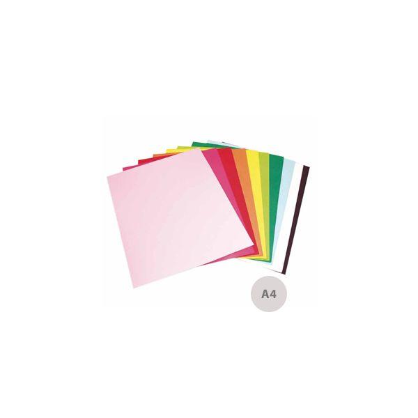10 un. Fls Cartolina A4 170g Cores Intensas - 17207387