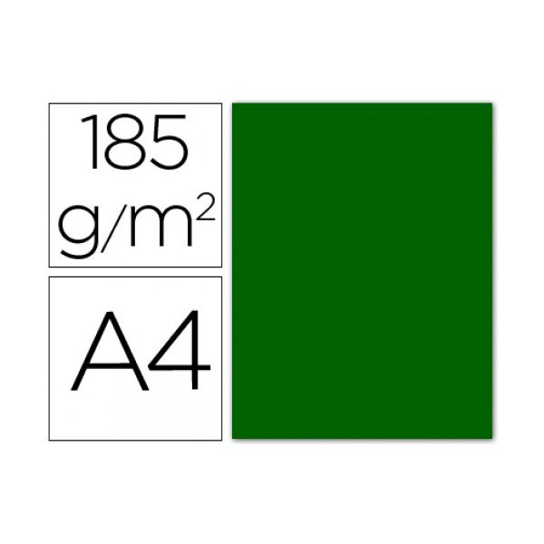 Guarro 50 un. Fls Cartolina Din A4 Verde Bilhar 185g - 54754