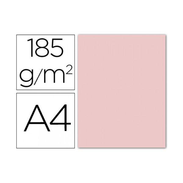 Guarro 50 un. Fls Cartolina Din A4 Rosa 185g - 54749