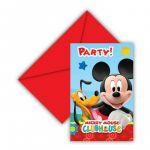 Decorata Party 6 un. Convites Disney Mickey Clubhouse - 200081513