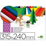 LiderPapel Cartolina Micro Canelada 315X240mm Bloco 10 Fls Cores Sortidas - L38492