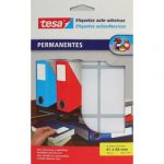 Tesa Etiquetas Auto Adesivas Permanente 41x65mm Tesa 20 Folhas - 080420