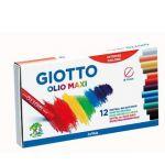 Giotto 12 un. Barras Pastel a Óleo Gigante Cores Sortidas