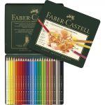 Faber-Castell Estojo de Metal 24 Lápis de Cor Polychromos Multicolor