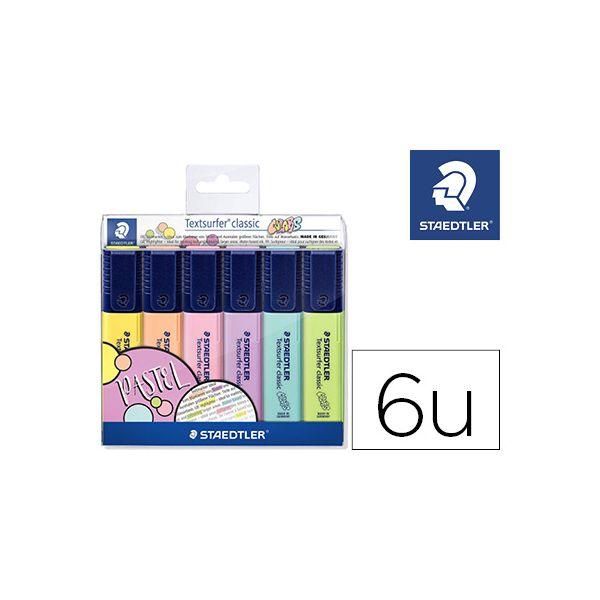 Staedtler Marcador Fluorescente Textsurfer Classic Pastel 6 un.