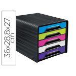 CEP Blocos Classificadores de Secretária 5 Gavetas Preto/multicolor Flashy 360X288X270 mm - OFF150852CE