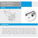 4Paper Display Informativo Perfil de Quadro de 41 mm p/ Suportes
