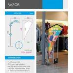 4Paper Indoor Flying Banner Razor - 13.625