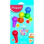 Maped Lápis de Cera Baby Crayon Color Peps Blister 6 Cores Sortidas - OFF151825CE