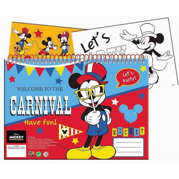 Disney Caderno A4 Mickey + Autocolantes 340-80416