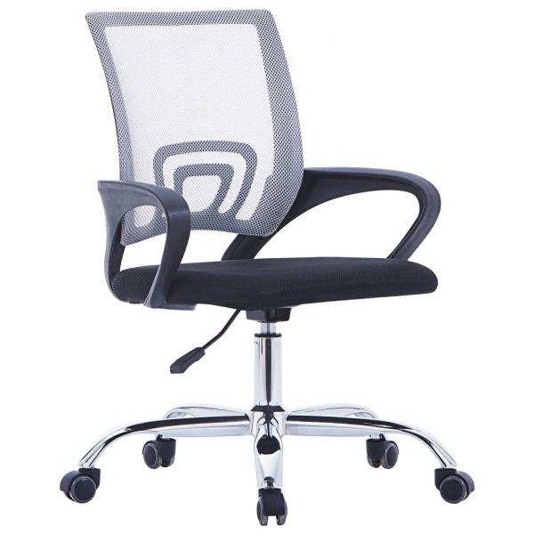 Cadeira de Escritório com Encosto em Malha Tecido Cinzento - 20184