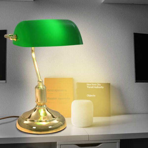 Candeeiro de Secretária 40 W Verde e Dourado - 50872