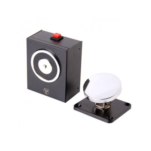 ZKteco YD-604 Retentor Electromagnético para Porta Simples com Botão de Comando NO NC 500 kg DC 24 V - YD-604