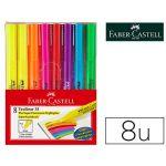 Faber-castell Marcador Faber Fluorescente Textliner 38 Blister de 8 un. Cores Sortidas - OFF151880CE