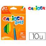 Carioca Lápis de Cores Baby 2+Anos Caixa de 10 Cores Sortidos - OFF151841CE