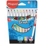 Maped Marcador Feltro Color Peps Brush 10 Cores