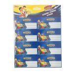 Disney 16 Etiquetas Autocolantes Mickey and The Roadster Racers 920127-9006