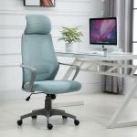 Vinsetto Cadeira de Escritório Ergonômica Inclinável Altura Ajustável 64x58x116-126 cm Azul