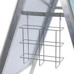 Signal Shop Cesta Porta Folhetos| para Expositores de Cavalete Perfil 32 mm, 25 mm e Compasso Tamanho de Porta Folheto: A5 - 450JD/LHZPA5