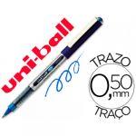 12 un. Esferográficas Rollerball UB-150 Eye Fine 0.5mm Blue