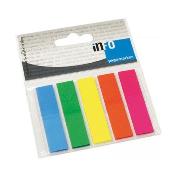 Info Notes 12 un. Sinalizadores Film Pagemarker 5x12x50mm 125 Fls 5 Cores - 162268109