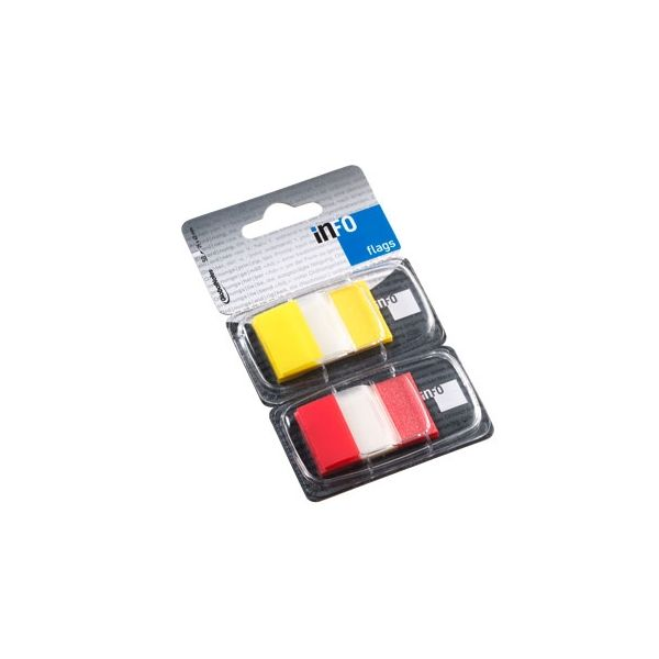 """Infonotes 2 un. Dispensadores Tape Flags 1"""" Yellow/Red"""