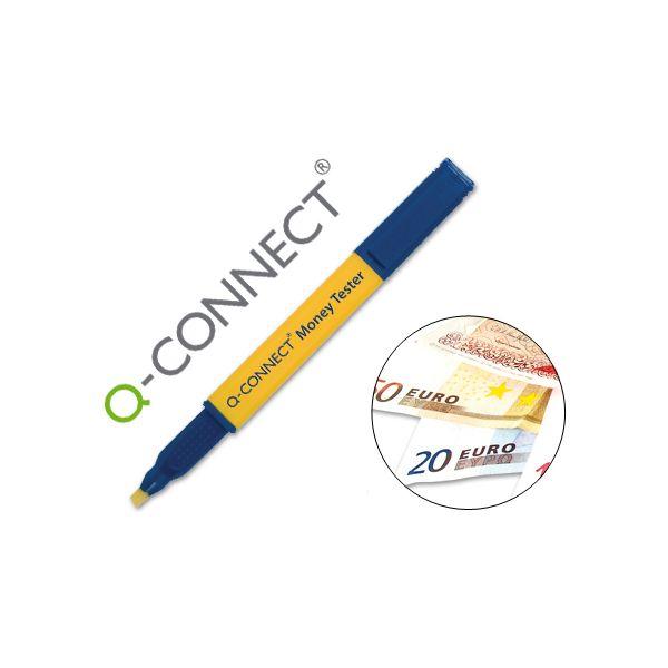 Q-Connect Caneta Detetora Notas Falsas Euro Tester - KF14620