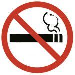 Apli Etiquetas de Sinalização Proibido Fumar 114x114mm - 00845