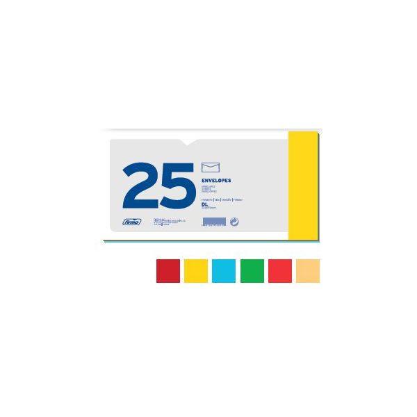Firmo 25 un. Envelopes DL Cores Sortidas - 70263
