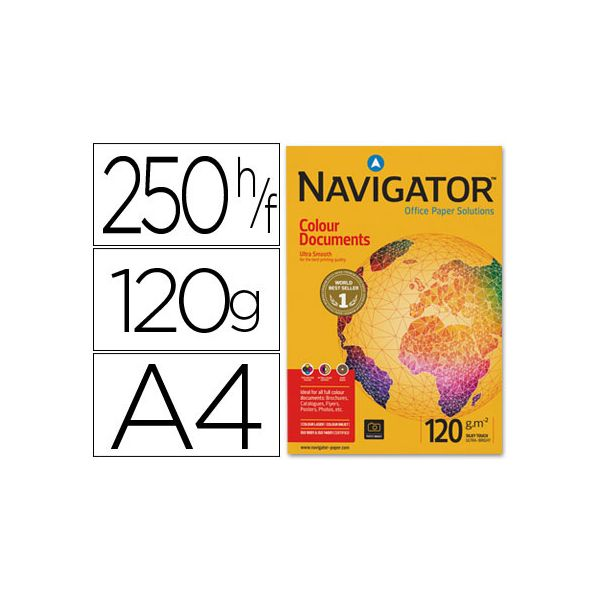 Navigator Resma 250 Fls Papel A4 Colour Documents 120g
