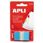 Apli Notas Adesivas Index Zig-Zag 25x45mm Blue - 12611