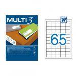 Multi 3 Etiquetas Adesivas 38x21,2mm 100 Fls - 04716