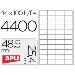 Apli Etiquetas Adesivas 48,5x25,4mm 100 Fls - 01285