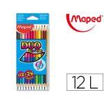 Maped 12 un. Lápis de Cor Duo Color Peps 24 Cores