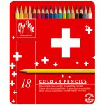 Caran d'Ache 18 Lápis de Cor Swisscolor