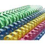 100 un. Argolas de Encadernação PVC 10mm 60 fls Blue - 1713046